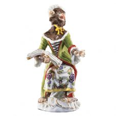 Meissen Monkey Band - Figurine of a Singer Female IV
